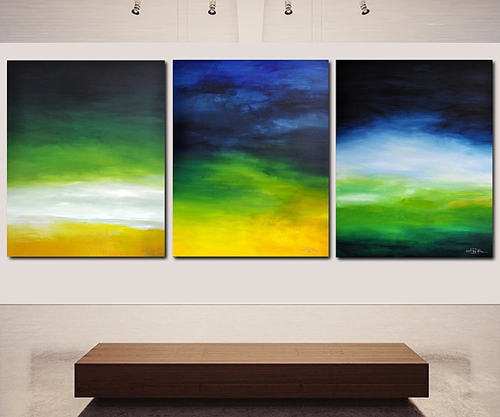 LATE SUMMER IN THE HAMPTONS (triptych)