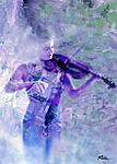 A Young girl playing violin - Digital Artwork - Ridha H