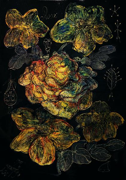 Yellow rosa