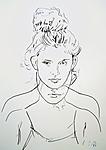 Porträt einer jungen Frau in Frontalansicht