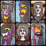 Custom-made portraits by Israeli artist Mirit Ben-Nun
