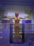 Cuerpo y Alma, imploración de la luz, cristal azul
