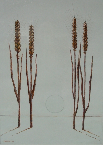 Endzeitliche Landschaft / Weizensymbolik