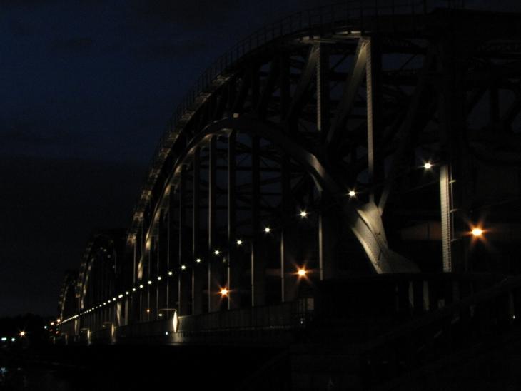 IMG_4484  - Industrial Structures - Freihafenbrücke At Night