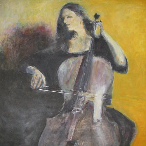 woman play the cello