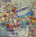 Boats in Yaffa port