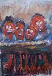 anxiety laughter -  israeli art. gideon saar