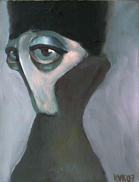 waiting (portrait of SSK)