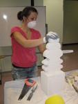 Finishing a hebel sculpture
