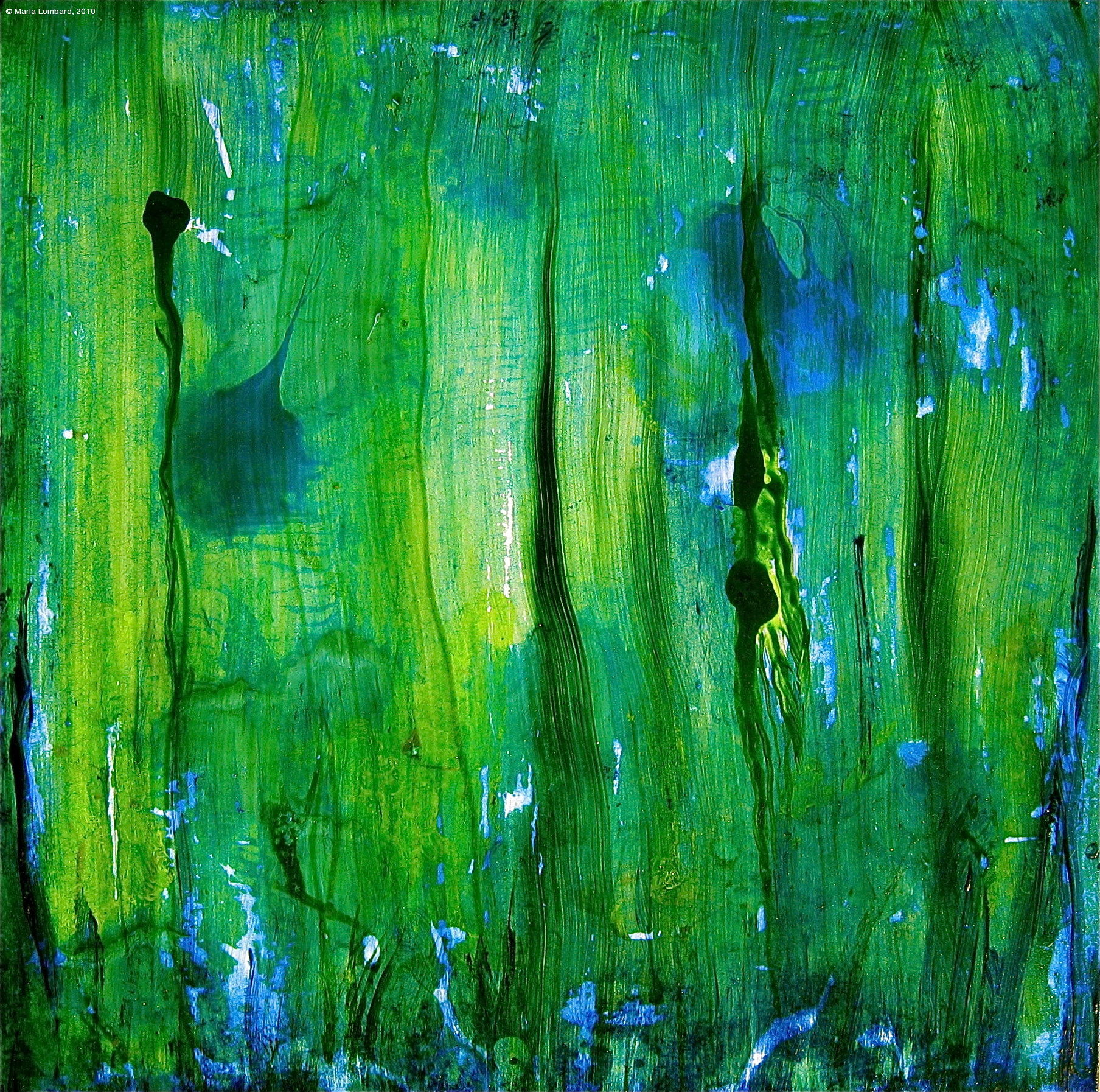 Artdoxa community for contemporary art marla lombard for Blue paintings on canvas