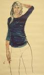la fille au pull bleu 2 - the girl with a blue shirt 2