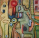 kobolde (100x100cm) Oil on canvas