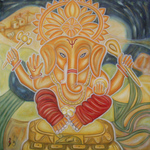 ganesha(100x100cm) öil on canvas