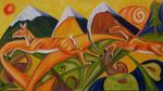 alpenrehe(90x50cm) oil on canvas