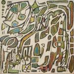 Hausgnom(60x60cm)mixed on canvas