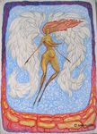 femme ange au dessus des rouges