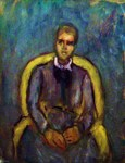 Portrait, yellow armchair