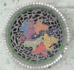 Frogs in Bowl Mosaic