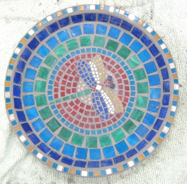 Dragonfly Bowl Mosaic