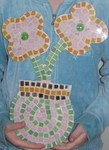 Mosaic Flower made on School Holiday Program