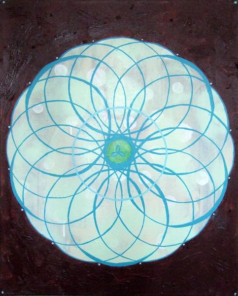 Mandala Blue $400
