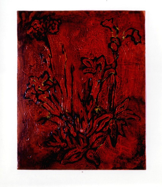 Black Flowers (red version)