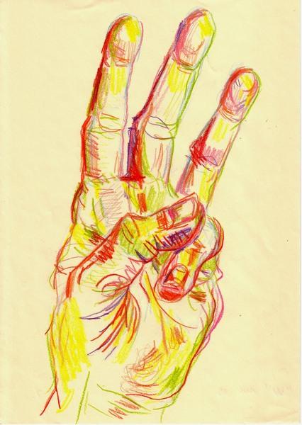 """Left Hand """"W"""" (""""WAR"""")"""