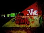 Grafiti in Tunnel