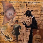 man in black with white collar II