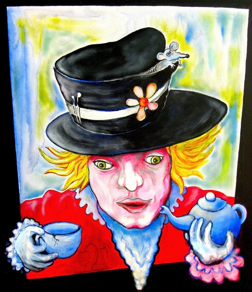 Selfportrait Mad as a Hatter