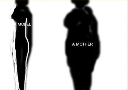 a mother and a model
