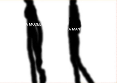 a model and a man