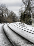 down the snowy tracks