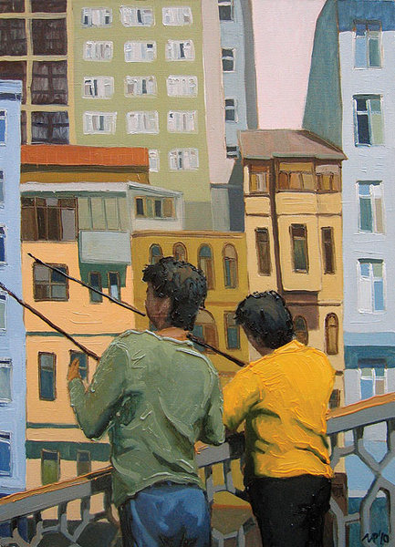 Anglers on Galata Bridge.