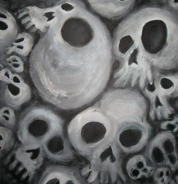 Soft Cluster of Spooky Skulls
