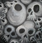 Soft Cluster of Spooky Skulls