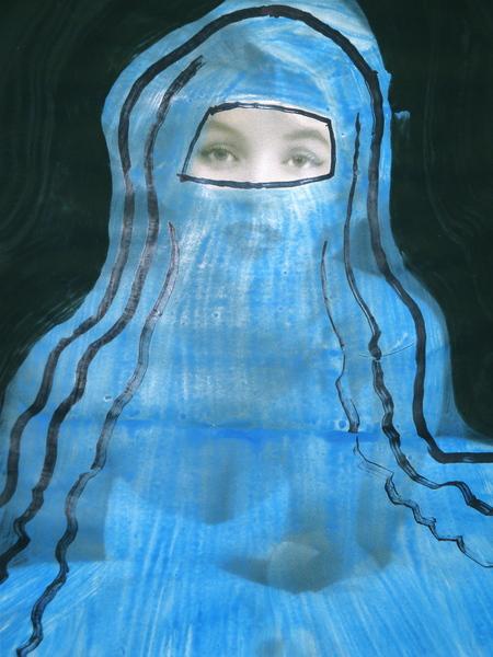 14. Blue Mari;yn, detail