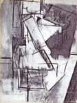 Seated Nude with Hans Hofmann's charcoal markings