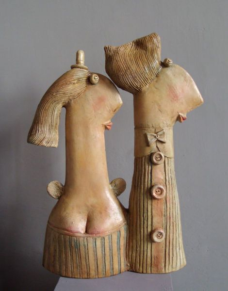 Guardian Angel, ceramic sculpture