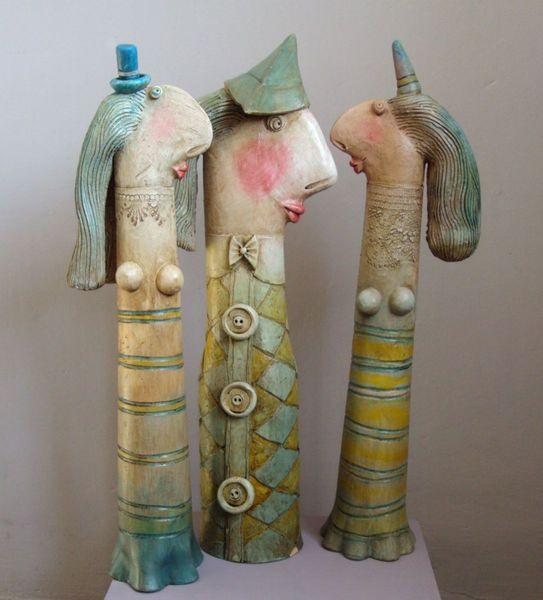 Johanson and his harem, ceramic sculpture