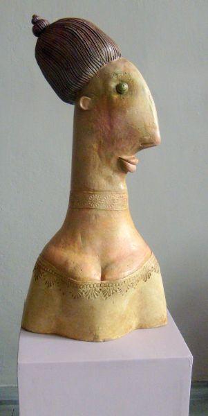 Lady J, ceramic sculpture