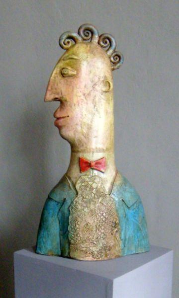 Sir J, ceramic sculpture