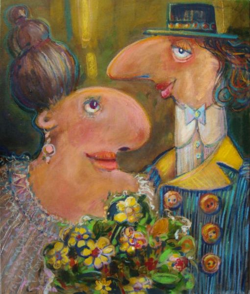Golden wedding, painting