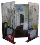 Altar für ein Abbruchhaus - Vorderseite halb geöffnet