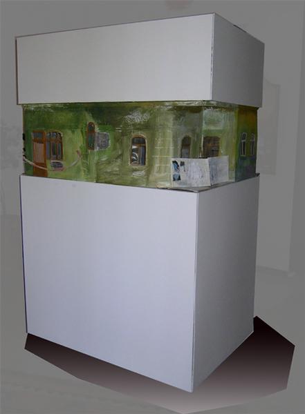 Modell-Abbruchhaus Rückseite