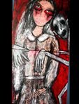 -Captivity and powerlessness- Acryl,Strukturpaste auf Leinwand,1