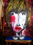 - Face of a child -    Jahr 2009    100 x 70 cm    Acryl,Struktu