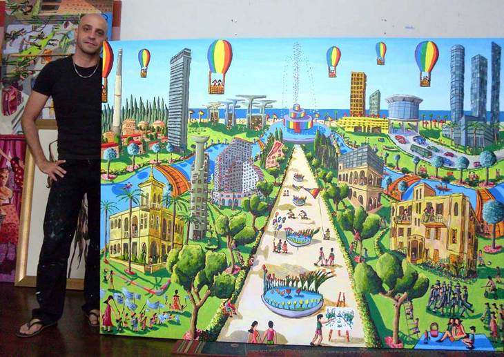 tel aviv naive paintings by israeli painter