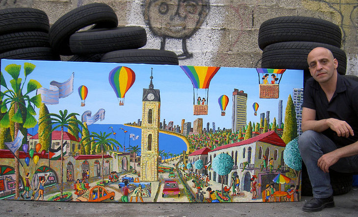 tel aviv naive paintings by israeli artist
