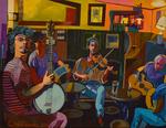 Shons Bar(evening play it) 40,5x50,5cm